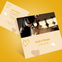 Faire-part mariage photo horizontale