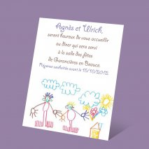 carte d'invitation - dessin enfant