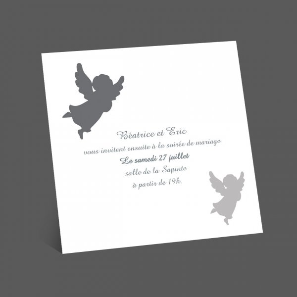 Invitation bapteme ange