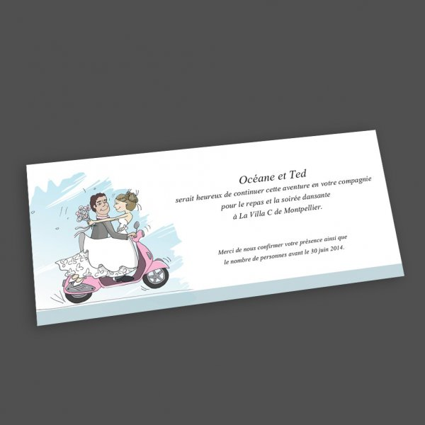 Carte d'invitation vespa
