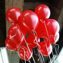 20 Ballons rouge brillant