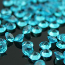 100 Diamants de table bleu turquoise