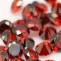 100 diamants de table rouge