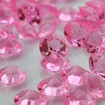 Diamant de table mariage rose