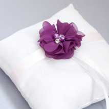 Porte alliance blanc, violet et rose